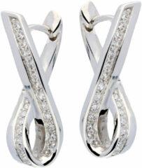 Best Basics Zilveren klap-oorringen - zirkonia - glanzend - gerodineerd 107.5150.00