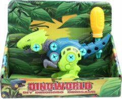 Dino World Dinoworld Speelfiguur Diy Dino Jongens 20 Cm Donkerblauw/groen