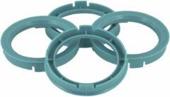Universeel Set TPI Centreerringen - 64.0->60.1mm - Process Blauw
