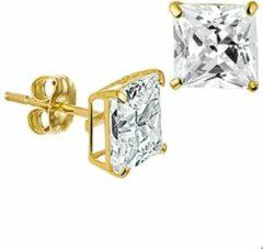 Goudkleurige The Jewelry Collection TFT Oorknoppen Zirkonia Geelgoud Glanzend