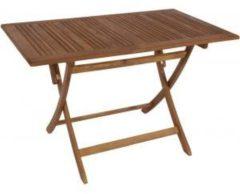 Bruine Brulo Houten inklapbare tafel 120 cm Acacia