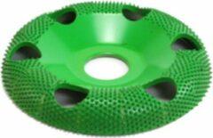 Groene Saburrtooth Saburr Open carving wheel 100 mm, round, coarse