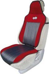 Rode Race Sport stoelkussen Coolmate universeel kunstleer zwart/rood