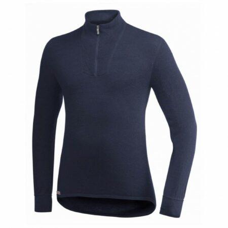 Afbeelding van Woolpower - Zip Turtleneck 400 - Merino trui maat XXS zwart/blauw
