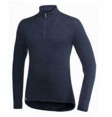 Woolpower - Zip Turtleneck 400 - Merino trui maat XXS zwart/blauw