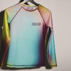 WALLIEN - Vrouwen Rash Guard - Color Splash - Multi