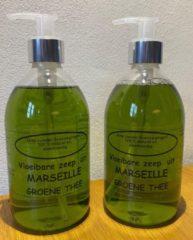 Provendi Vloeibare Marseille zeep, pompje 2 x 500 ml Groene thee