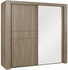 Gamillo Furniture Schuifdeurkast Moka 249 cm breed in houtskool eiken