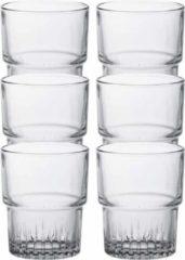 Duralex 6x Koffie/espresso Glazen Empilable Transparant 200 Ml - Whiskey Glazen Van Glas 200 Ml