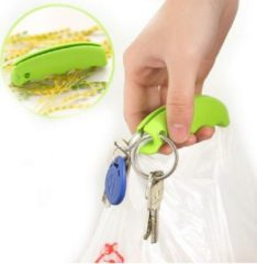 Groene Ardran & Tookar Tasjes Drager - Tassendrager - Siliconen Tas Handvat Houder Holder - Plastic tas drager - Comfortabel winkelen met Grip bescherming - 1 Stuks Groen