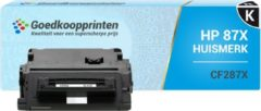 Goedkoopprinten Huismerk voor HP 87X toner / HP CF287X toner cartridge Zwart (20.000 afdrukken)