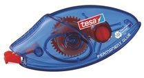 Rode Tesa Permanente wegwerpbare mini lijmroller Rood 8 4 mm x 8 5 m