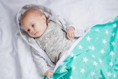 Witte Bliss Babydeken - Wikkeldeken - Omslagdoek - Wiegdeken - Dekentje - Ster Mint