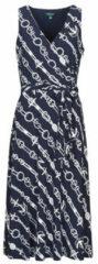 Lauren Ralph Lauren jurk Carana met all over print donkerblauw/wit