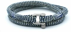 MR. JACOB Fernand witblauwe dubbele touw armband