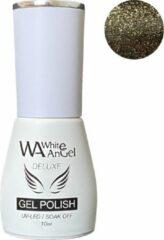 Goudkleurige Gellex White Angel Gellex Deluxe Gel Polish, gellak, gel nagellak, shellac - Cosmic Gold 239