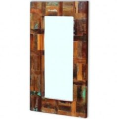 VidaXL Spiegel 80x50 cm massief gerecycled hout