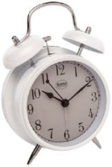 Witte Balance Quartz Alarm Clock Analogue White
