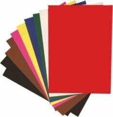 Fuchsia Quantore Grote vellen XL Knutselkarton - Surprisekarton - Hobbykarton - Fotokarton - 50x70 cm - 10 grote gekleurde vellen - Gratis Verzonden