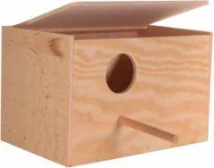 Bruine Trixie nestkastje hout 21x12x13 cm gat 4 cm