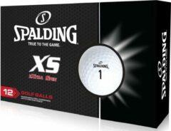 Witte Spalding XS 12 golfballen