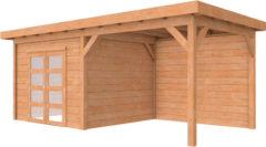 Woodvision Douglas Topvision | Blokhut Roek met luifel 400 cm