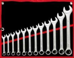 Zilveren Monzana Moersleutelset 12 delig verchroomd staal 6-22 mm