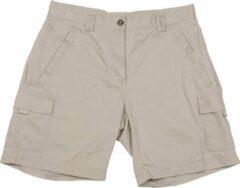 Licht-grijze Dames wandelbroek | Gelert Opal Cargo Shorts | Lichtgrijs Maat 40