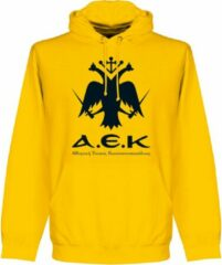 Merkloos / Sans marque AEK Athens Embleem Hooded Sweater - Geel - L