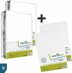 Antraciet-grijze Dexitex Frans bed 1 x Hoeslaken Wit 1 x Hoeslaken Antraciet Jersey katoen/ 2 x Molton geschikt voor Caravan/Camper RECHTS
