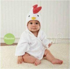 Witte Badjas Baby - Komfor - Kip - Inclusief gratis baby borstel & kam