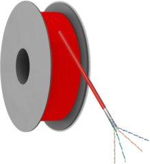 Rode Netwerkkabel CAT 5e F/UTP Goobay 93269 4 x 2 x 0.12 mm² Rood 100 m