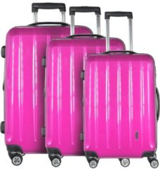 CHECK.IN CHECKIN LONDON 4-ROLLEN KOFFERSET 3TLG. Damen pink