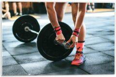 Roze KuijsFotoprint Forex - Fitness Gewichtheffen - 60x40cm Foto op Forex