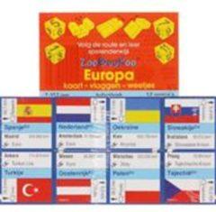 Scala Leuker Leren Bv ZooBooKoo kubusboek - Europa Kaart,Vlaggen, Weetjes