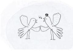 Grijze Snoozebaby geboortekaartje met knuffeldoekje in een envelop grey mis knuffeldoekje