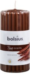 Bolsius Stompkaars geur 120/58 true scents oud wood