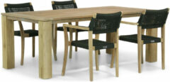 Groene Lifestyle Garden Furniture Lifestyle Dallas/Brighton 200 cm dining tuinset 5-delig