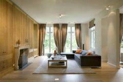 Zandkleurige Floorpassion Sandro 12 - Hoogpolig vloerkleed in Beige
