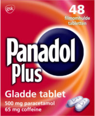 Panadol Plus Gladde Tablet 500 mg 48 tabletten