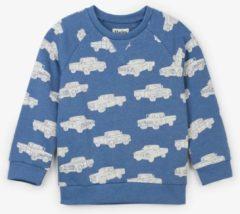 Blauwe Hatley Sweater Trucks maat 116