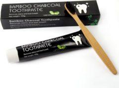 "LuxSmile Houtskool tandpasta voor witte tanden / Teeth Whitening Charcoal + ""Gratis Bamboo tandenborstel"" | Bright Up!"