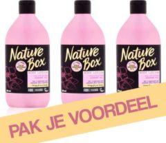 Nature Box Almond Hydraterende Bodylotion - 3 x 385 ml - Voordeelverpakking