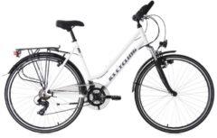 KS Cycling Damen-Trekkingrad, 28 Zoll, weiß, Shimano 21 Gang-Shimano Tourney, »Metropolis«