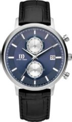 Zilveren Danish Design watches edelstalen herenhorloge Samsø Royal Blue IQ22Q1215