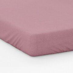 Y-NOT - Mat Satijn Hoeslaken Matras - Microvezel - 140x200 + 30 cm - Oud Roze
