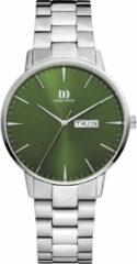 Danish Design edelstalen herenhorloge Akilia Day/Date groen Link IQ97Q1267