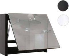 Heute-wohnen Spiegelschrank HWC-B19, Wandspiegel Badspiegel Badezimmer, aufklappbar hochglanz 48x79cm
