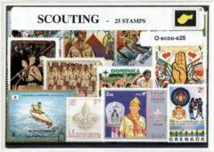 Transparante KLOMP G.T.P Scouting - postzegelpakket cadeau met 25 verschillende postzegels