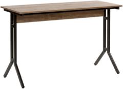 Beliani Bureau donkere hout-look 120 x 48 cm. CREEK